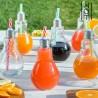 Kõrrega Lambipirni kujulised Joogiklaasid (250 ml x 6 tk)