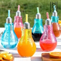 Värvilised Lambipirni kujulised Joogiklaasid (250 ml x 6 tk)