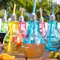 Värvilised Lambipirni kujulised Joogiklaasid (400 ml x 6 tk)