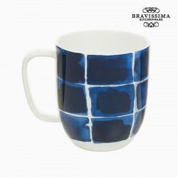 Portselanist Tass Blue Squares