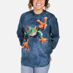 3D prindiga Pika Varrukaga T-särk Victory Frog