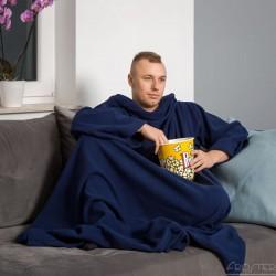 Тёплое Одеяло с Рукавами DELUXE, Navy Blue