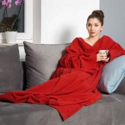 Тёплое Одеяло с Рукавами DELUXE, Красное