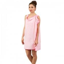 Халат-Полотенце, розовый