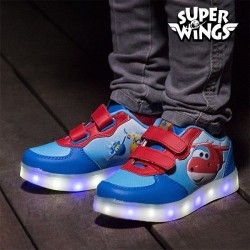 Детские Кроссовки с LED Огоньками Super Wings