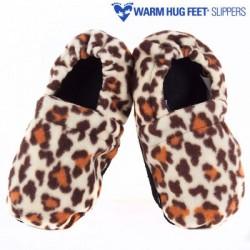 подогреваемые тапки Warm Hug Feet, Leopard