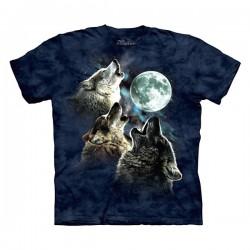 3D prindiga T-särk lastele Wolf Moon in Blue