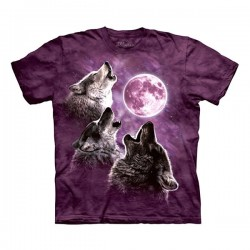 3D prindiga T-särk Wolf Moon in Purple