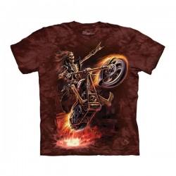 футболка с 3D принтом Hell Rider