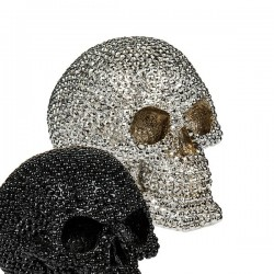 hõbedane Rahakassa Bling Skull