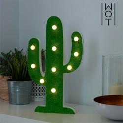 10 LEDiga Puidust Dekoratiivlamp Kaktus