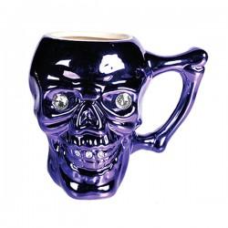 Сиреневая Кружка Skull