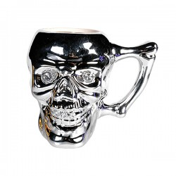 Серебряная Кружка Skull