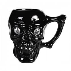 Чёрная Кружка Skull
