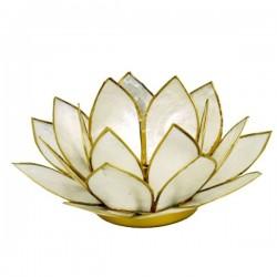 Поставка для свечи с золотой отделкой Pearl