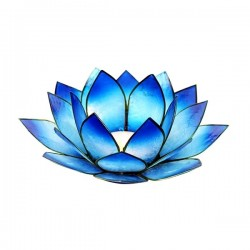 Teeküünla alus Capiz Shell (sinine)