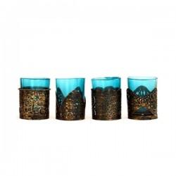 Küünlahoidjad siniste Klaasidega (4tk)