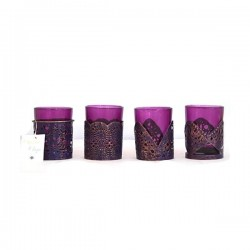 Küünlahoidjad lillade Klaasidega (4tk)