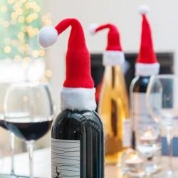 Шапочки Деда Мороза на Бутылки (4шт)
