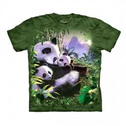детская футболка с 3D принтом Panda Cuddles