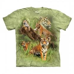 3D prindiga T-särk lastele Wild Tigers