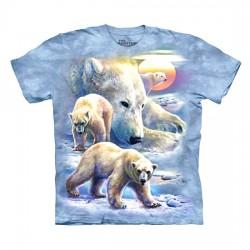 3D prindiga T-särk lastele Sunrise Polar Bears
