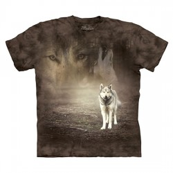 3D prindiga T-särk Grey Wolf