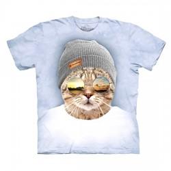 3D prindiga T-särk Cool Hipster Cat