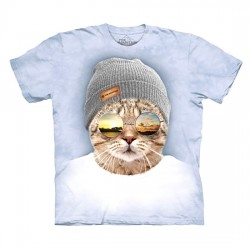 футболка с 3D принтом Cool Hipster Cat