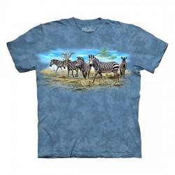 детская футболка с 3D принтом Zebra Gathering