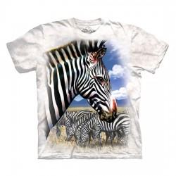 футболка с 3D принтом Zebra Portrait