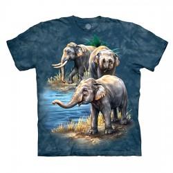 футболка с 3D принтом Asian Elephants