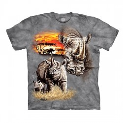 детская футболка с 3D принтом Rhinos