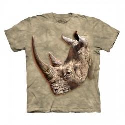 3D prindiga T-särk White Rhino
