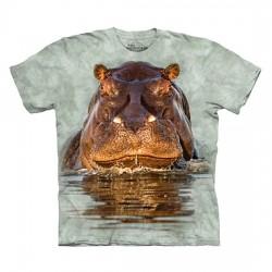 футболка с 3D принтом Hippo