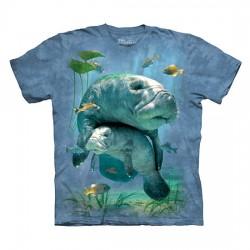 футболка с 3D принтом Manatees