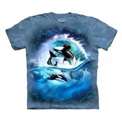 футболка с 3D принтом Orca Wave