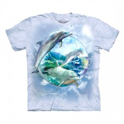 3D prindiga T-särk Dolphin Bubble