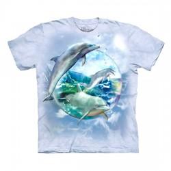 3D prindiga T-särk lastele Dolphin Bubble