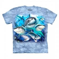 детская футболка с 3D принтом Shark Selfie