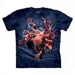 3D prindiga T-särk lastele Octopus Climb