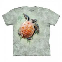 футболка с 3D принтом Turtle Climb