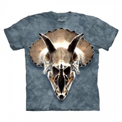футболка с 3D принтом Triceratops Skull