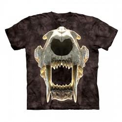 футболка с 3D принтом Sabertooth Skull