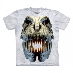 футболка с 3D принтом Silver Rex Skull