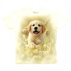 3D prindiga T-särk Golden Puppy