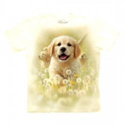 3D prindiga T-särk lastele Golden Puppy