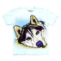 футболка с 3D принтом Siberian Husky