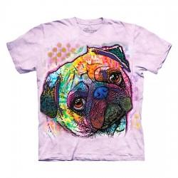футболка с 3D принтом Lovable Pug