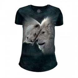 Tri-Blend Naiste T-särk White Lions Love
